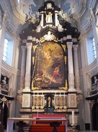 Altaar van het St. Walburgakerk van Brugge