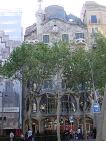 Casa Battlo van Gaudi in Barcelona