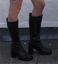 hoge leren plateau laarzen