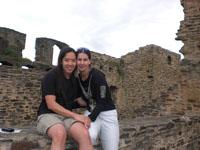 Romantisch bij een oude kasteel